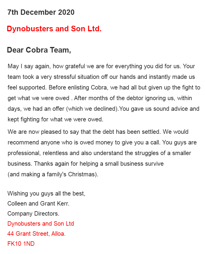 Dynobusters and Son Ltd